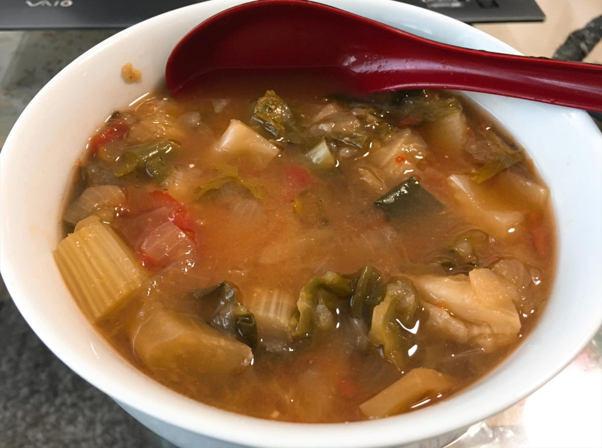 脂肪燃焼スープ2日目昼食