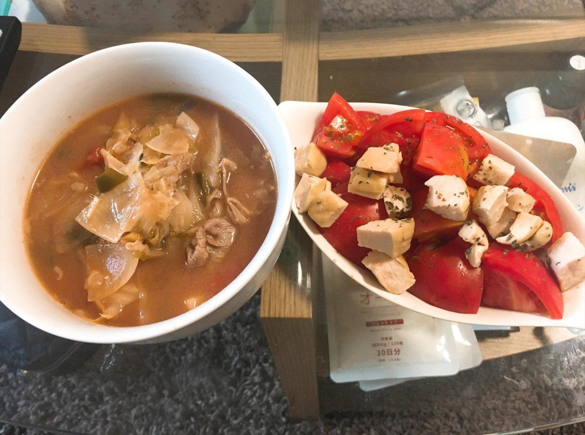 脂肪燃焼スープ5日目朝食